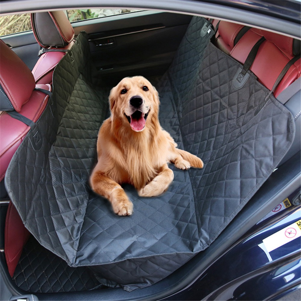 600D Oxford Pet Car Seat Covers Waterproof Back Bench Seat Car Interior Travel Accessories Car Seat Covers Mat