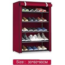 a2cf482f5 Estante de zapatos de almacenamiento de tela no tejida soporte organizador  de gabinete de pasillo 4/5/6 capas ensamblar estante .