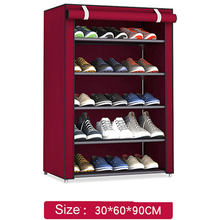 Non-woven Fabric Storage Shoe Rack Hallway Cabinet Organizer Holder 4/5/6 Layers Assemble Shoes Shelf DIY Home Furniture(China)