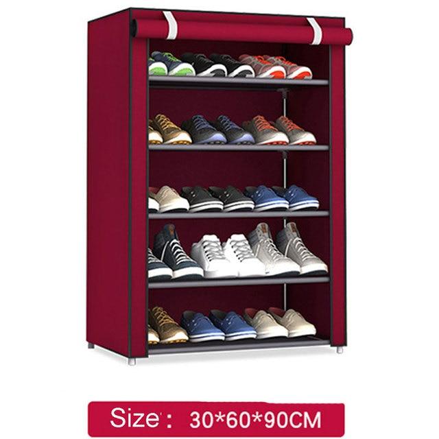 Non woven Fabric Storage Shoe Rack Hallway Cabinet Organizer Holder 4/5/6 Layers Assemble Shoes Shelf DIY Home Furniture