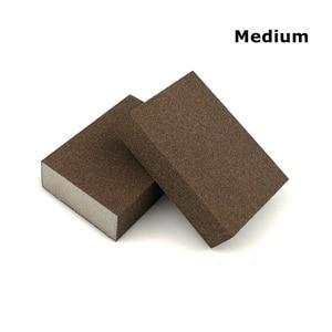 Image 4 - 20 sztuk szlifowanie blok z gąbki ścierna piankowa podkładka na ściana z drewna sprzątanie kuchni szlifowanie ręczne