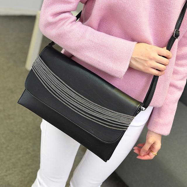 2017 New Chian Bags Solid Female Purses Shoulder Bag Women Messenger Bags Quality Envelope Bag Clutches Fashion Handbags sac