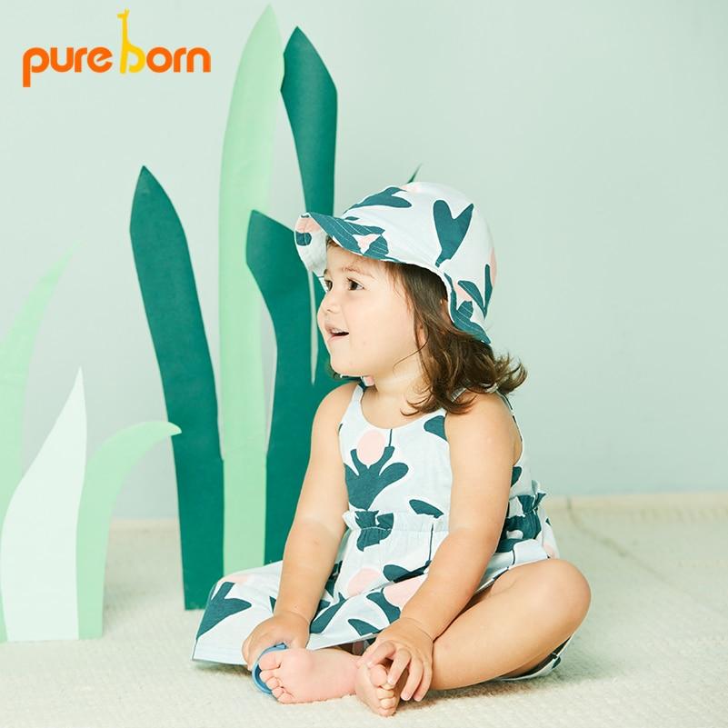 Pureborn Causal Summer Baby Girl Dress vestidos de estampado de ... 9913ca26f33