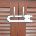 3 Unids Cerraduras Del Gabinete de Bloqueo de Seguridad Del Bebé Niños Niño en Forma de U de Protección Niños Armario Cerradura de La Puerta de Seguridad