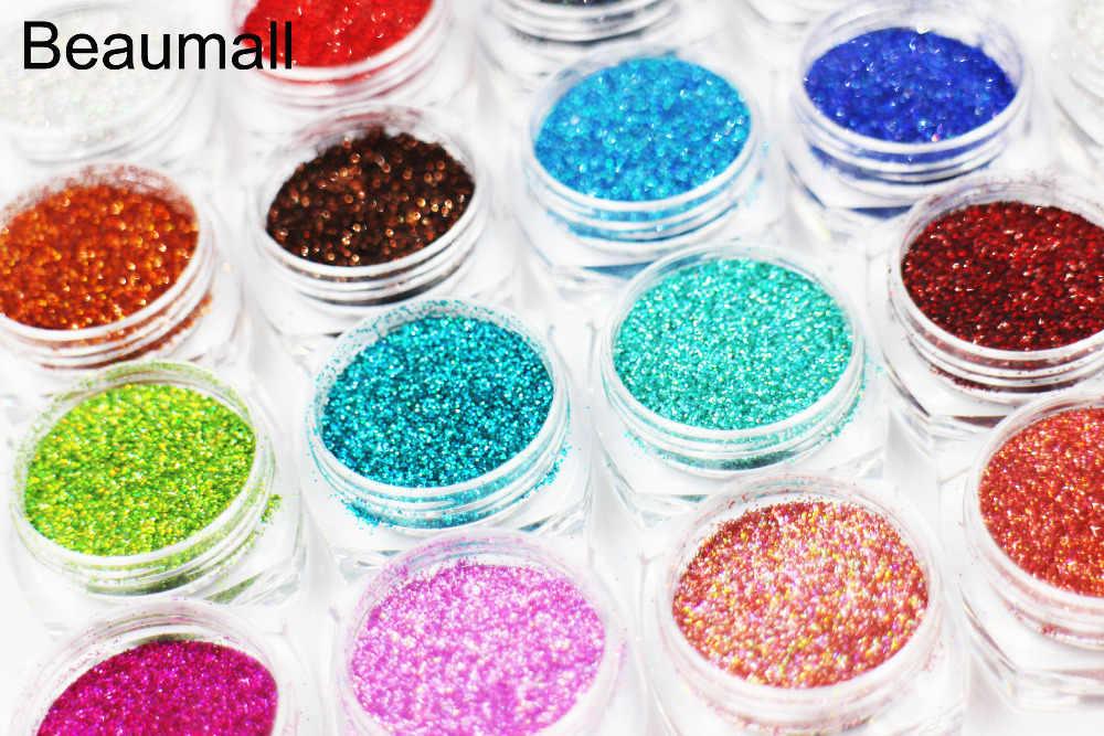2 グラム/ポット、 0.2 ミリメートル (1/128 008) グリッターレーザー粉末クローム顔料ため粉塵のうち、タトゥーアート、構成する。