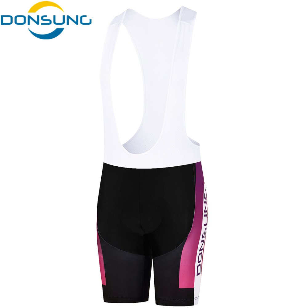 DONSUNG Women Cycling Bib Shorts Bike Outdoor Sports Shorts Racing Bicycle 3D Pad Bike Cycle Shorts Equipment ropa ciclismo