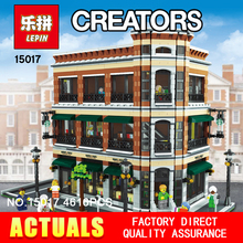 New LEPIN 15017 4616Pcs Creator Expert MOC Starbucks Cafe and the bookstore Model set Building Kits Model  Minifigure kid toys