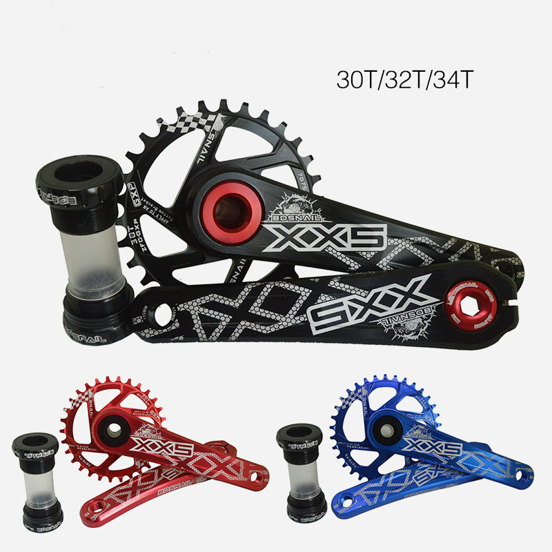 New Bicycle Crankset Suit crank Chainwheel 30T 32T 34T 7075 CNC Mountain Road Bike Tooth Plate Suit For GXP XX1 X9 XO X01 CNC AL prowheel chariot 53t folding bike road bike crankset 170 crank bicycle chainwheel 170l 170mm for sp8 8s 9s speed