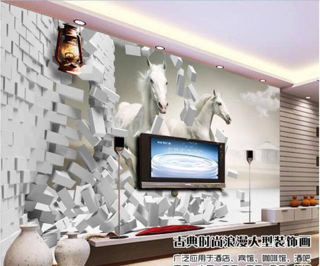 3d wallpaper kustom foto mural gambar non woven wall sticker 3 d