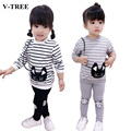 Two-piece Stripe Suit Baby Girl Clothes Girls Sets Of Clothes For Girls Clothes For Cats Children's Sports Suits Girls Outfits