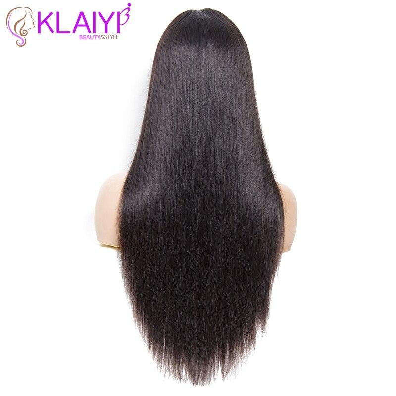 Klaiyi cabelo brasileiro em linha reta remy peruca de cabelo 12 26 Polegada 13x6 perucas de renda frontal 150% densidade peruca de cabelo humano #613 cor natural - 6