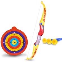 Children Simulation Bow and Arrow Military Model Toys Sports Shooting Soft Arrow
