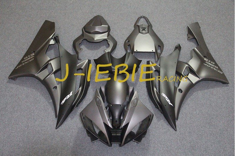 Gray Injection Fairing Body Work Frame Kit for Yamaha YZF 600 R6 2006-2007