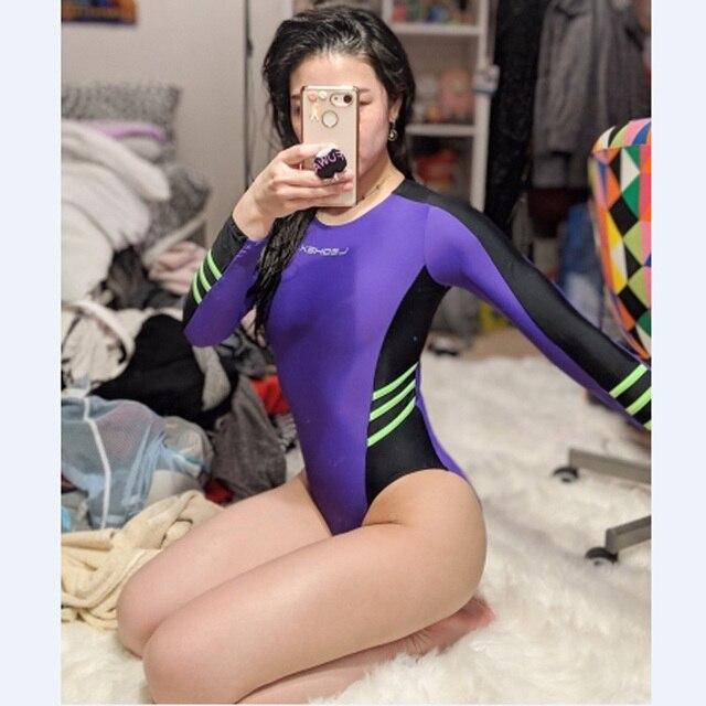c1bf1c19b81a9 DROZENO BodySuit High Cut One Piece Swimwear Women Glitter Bodysuit Shiny Bathing  Suits Female Swimsuit Sexy Satin Glossy LEOHEX
