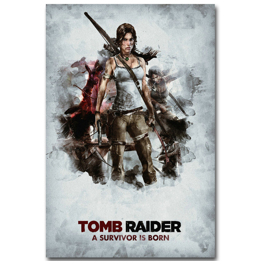 Lara Croft Rise Of The Tomb Raider Art Silk Fabric Poster Print 13x20 20x30 Inch Game Pictures For Living Room Wall Decor 010 In Painting Calligraphy From