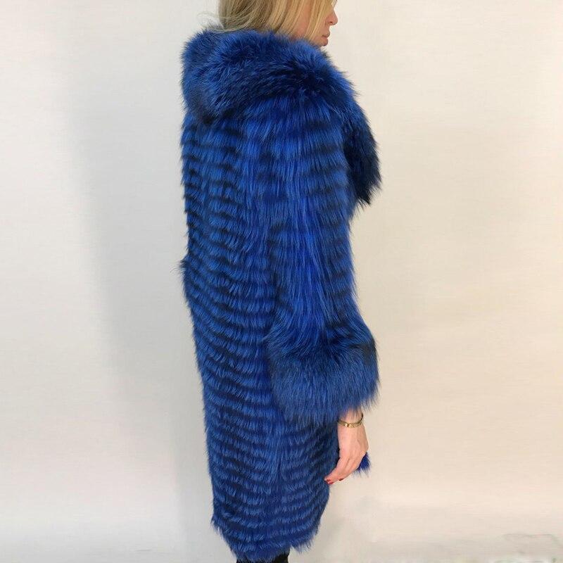 Col 105 Manteau Bule Femmes Veste sliver Outwear Réel Tailleur Hiver Renard De Avec Peau Fox Naturel Fc Fourrure Toute Chaud Mode Silver Épaisse N0knX8OwP