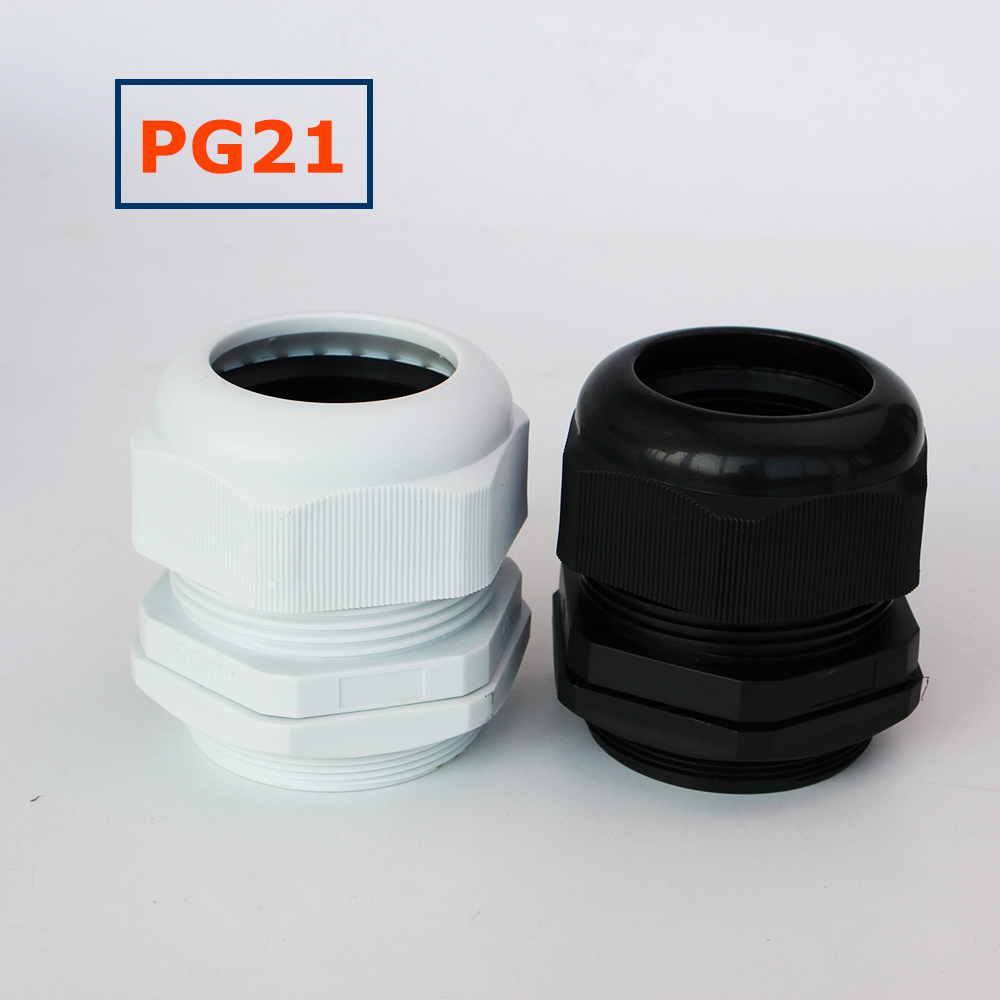25mm cable compression gland M25 waterproof IP68 stuffing glands 12-15mm WHITE