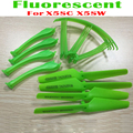 Fluorescent Green 4pcs Propellers + 4pcs Landing Gear + 4pcs Protective Ring Spare Parts for Syma  X5SC X5SW RC Quadcopter Drone