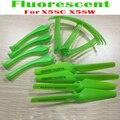 Verde fluorescente 4 unids Hélices + 4 unids + tren de Aterrizaje 4 unids anillo protector de piezas de repuesto para syma x5sc x5sw rc quadcopter Drone
