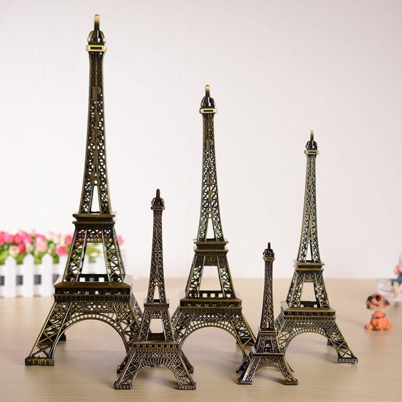Bronze Tone Curio Paris Eiffel Tower