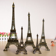 5cm-48cm Antiques Bronze Tone Curio Paris Eiffel Tower Figurine Statue Metal Crafts Vintage Model Decor For Wedding Decoration