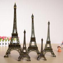 Statue de la tour Eiffel de Paris en Bronze antique, 5cm – 48cm, artisanat en métal, modèle Vintage, décoration pour mariage