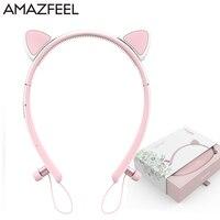 Wireless Earbuds Cat Ear Headphones Flashing Glowing Cosplay Deer Cat Ear Headphones Foldable Gaming Headsets Earphone