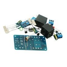 Placa de proteção para alto falante, amplificador de áudio de componente, diy, atraso, kit diy para arduino, amplificador estéreo, canal duplo