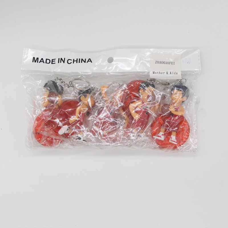 5 unids/lote Japón Anime 8cm Slam Dunk PVC figuras de acción baloncesto Sakuragi juguetes hanamichi