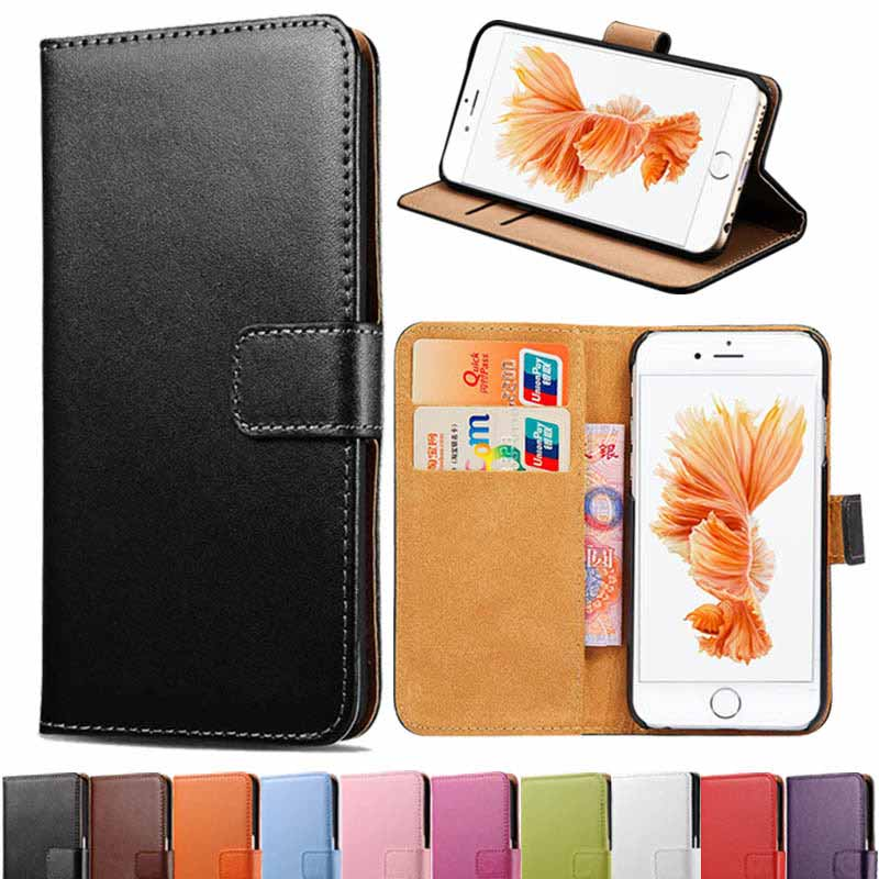 Classic Leather Wallet With Stand Case For iPhone 6 S 6S 4