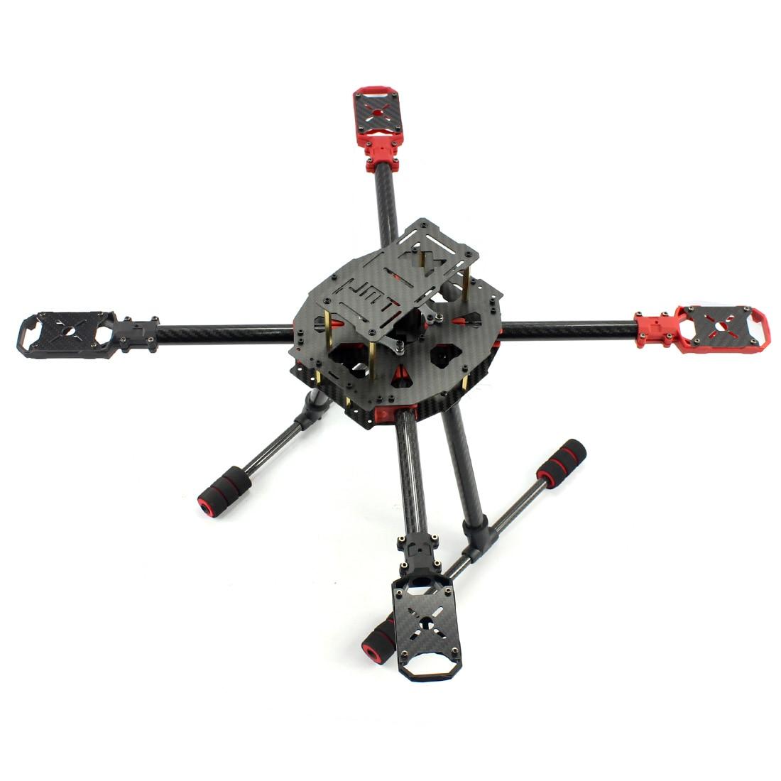 JMT J630 630mm fibre de carbone 4 axes pliable Rack cadre Kit haut atterrissage dérapage pour bricolage Drone RC Racer quadrirotor avion