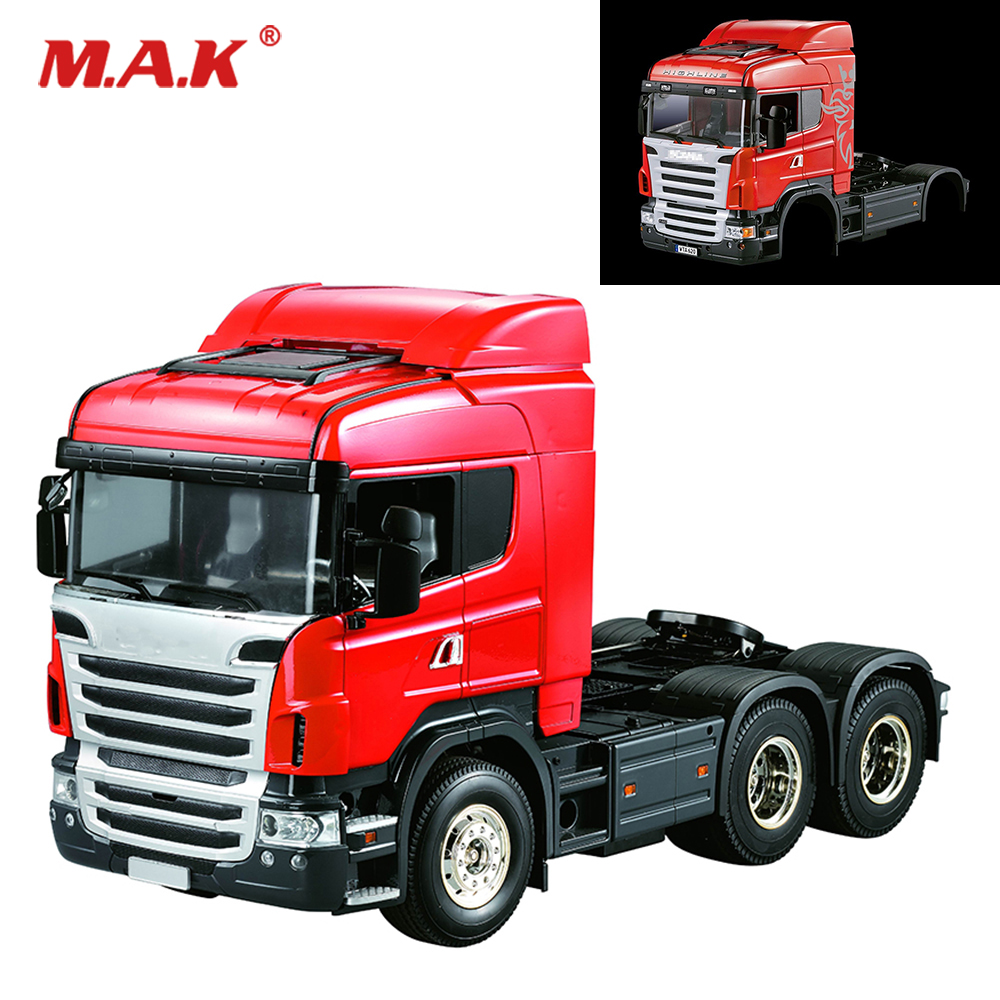 1:14 Scale 3 Speed Truck Assembly kit Unpainted Car Midtop Shell Body Red/White For 1/14 Model RC 3-axis Trailer Tractor Truck стоимость