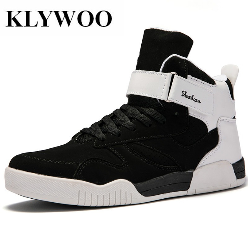 KLYWOO Mens Casual Shoes High Top Big Size 39-46 Superstar Shoes Men New Fashion Sneakers For Men Leather Shoes Ankle Boots Men fashion pleated leather mens casual shoes spring autumn new high top men shoes ankle mens sneakers zipper casual footwear