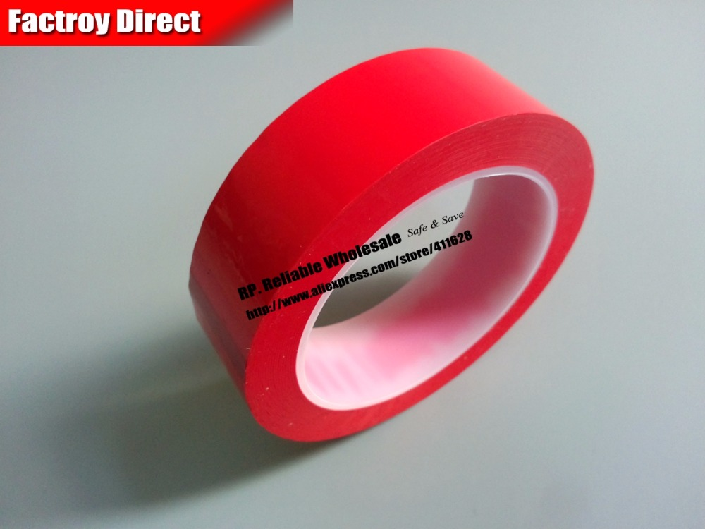 30mm*66Meter Red Single Sided Sticky Insulation Mylar Tape for capacitors, Packing single sided blue ccs foam pad by presta