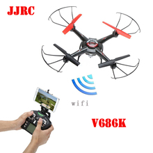 JJRC V686K V686 4CH 360 Flips 2.4GHz RC Quadcopter Drone w HD Camera FPV APP Headless Mode RTF
