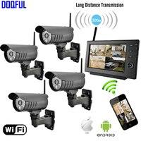 7 Мониторы 2.4 ГГц цифровой Беспроводной комплект видеонаблюдения встроенный li Батарея SD Запись Камеры Скрытого видеонаблюдения де seguranca че