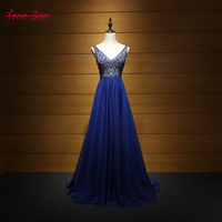 Amdml Luxury Beading Crystals A Line Prom Dresses 2017 Sleeveless Organza Simple Style Party Gown Sexy
