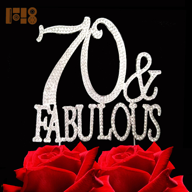 15 pieceslot70 FABULOUS Number Cake Topper Birthday Cake Pick