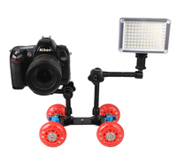 DSLR 카메라 비디오 사진 레일 압연 트랙 슬라이더 스케이팅 테이블 돌리 자동차 유연한 스피드 라이트 DSLR 카메라 캠코더 장비