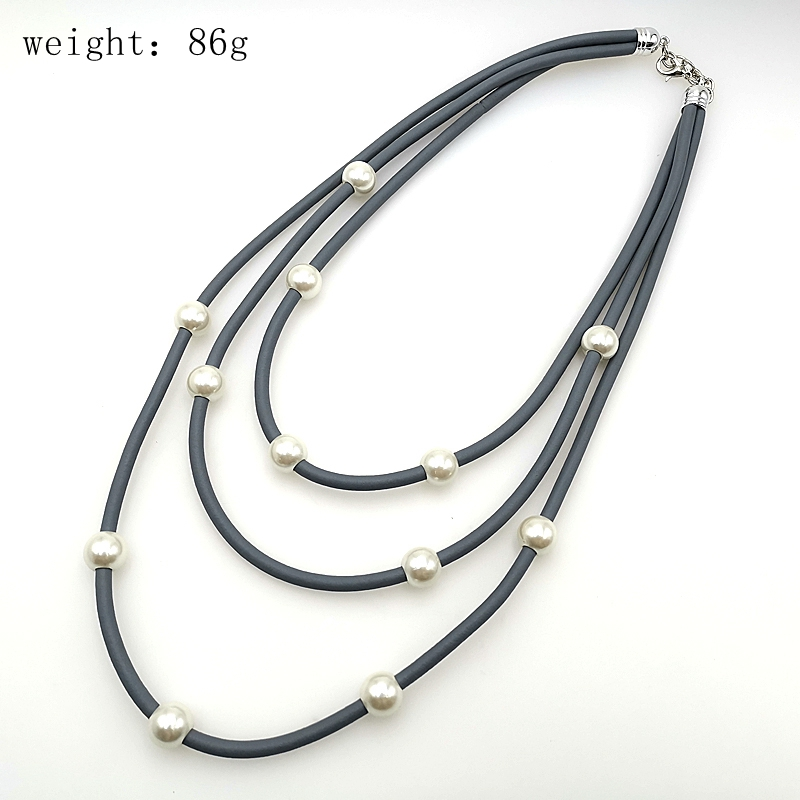 YD YDBZ New Pearl Necklaces For Women Fashion Handmade Chokers Drop Jewelry Harajuku Vintage Gothic Necklaces 3 Chains Collares