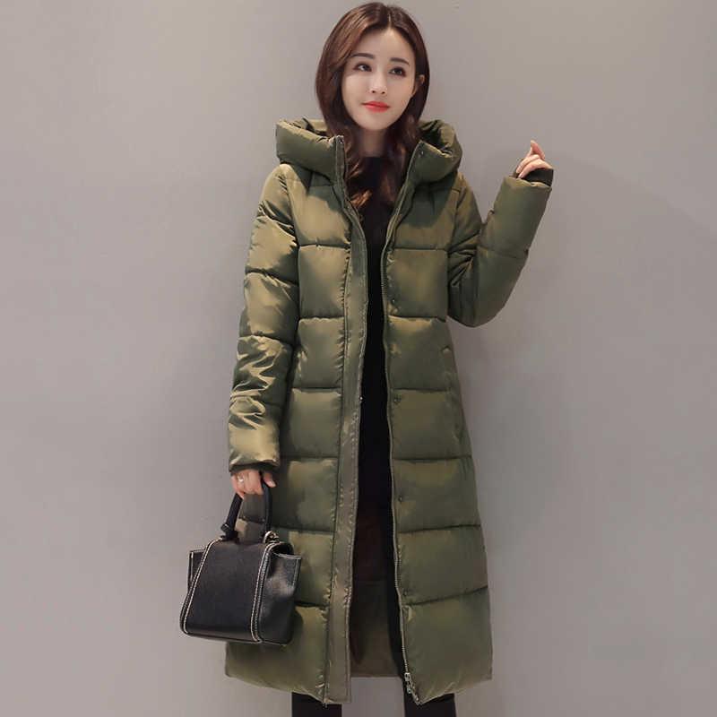2019 Высокое качество зимняя куртка для женщин с капюшоном теплый толстый  женский пальто Длинная парка 17 8b6d2905ede6e