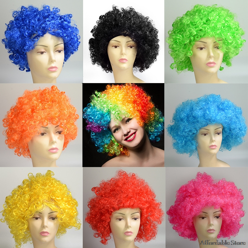 Cosplay Wig Anime COS Wig Yellow Green Party Short Hair Wig Set