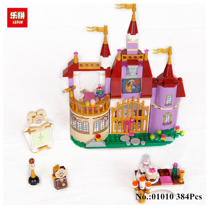 LEPIN 01010 Princess Belles Enchanted Castle Building Blocks For Girl Friends Kids Model Toys Marvel Compatible 41067 472pcs set banbao princess series castle building blocks girl friends favorite scene simulation educational assemble toys