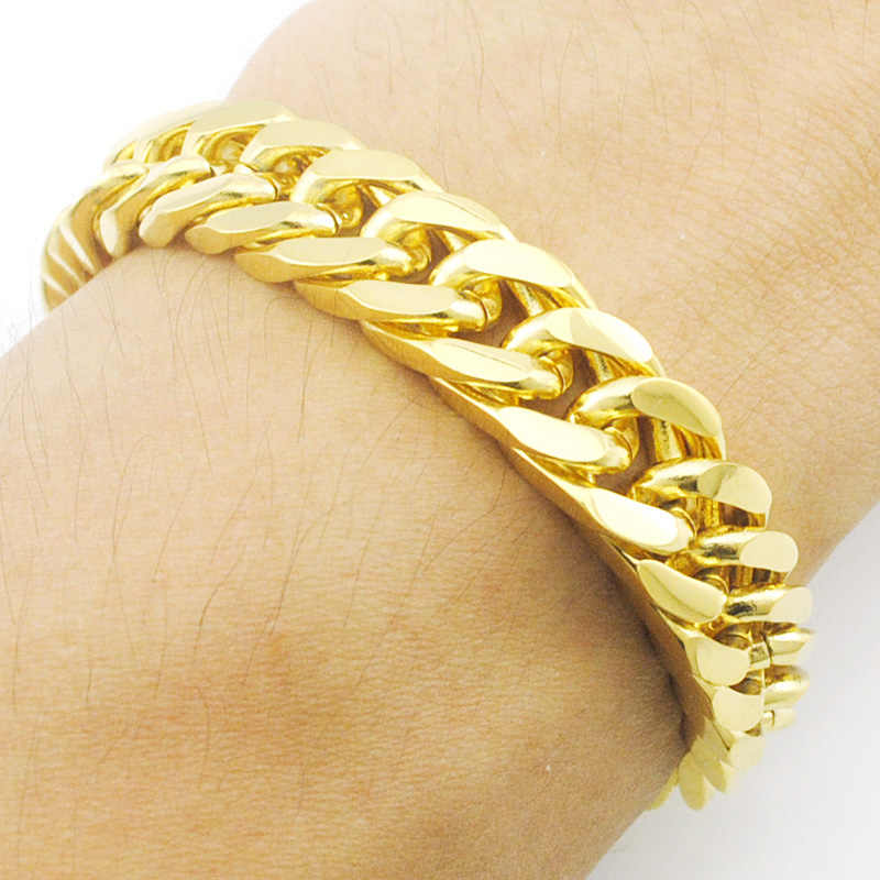 28fabc7a5 ATGO Charm New! 22.5cm*10mm Chain Link Bracelet men bracelet Wholesale  Factory Price