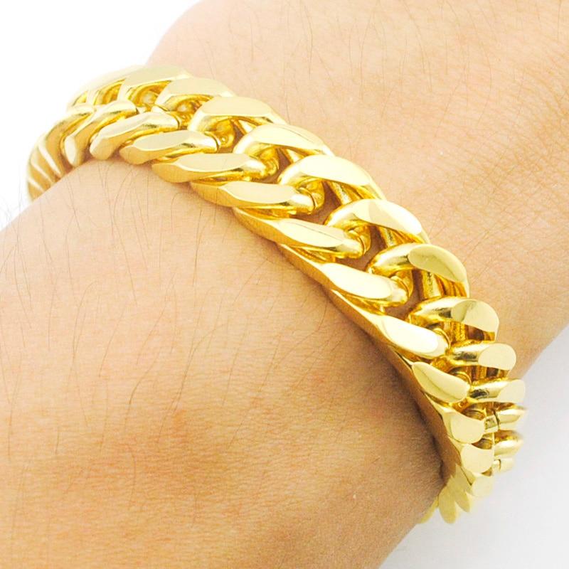 ATGO Charm New! 22.5cm*10mm Chain Link Bracelet men bracelet ...
