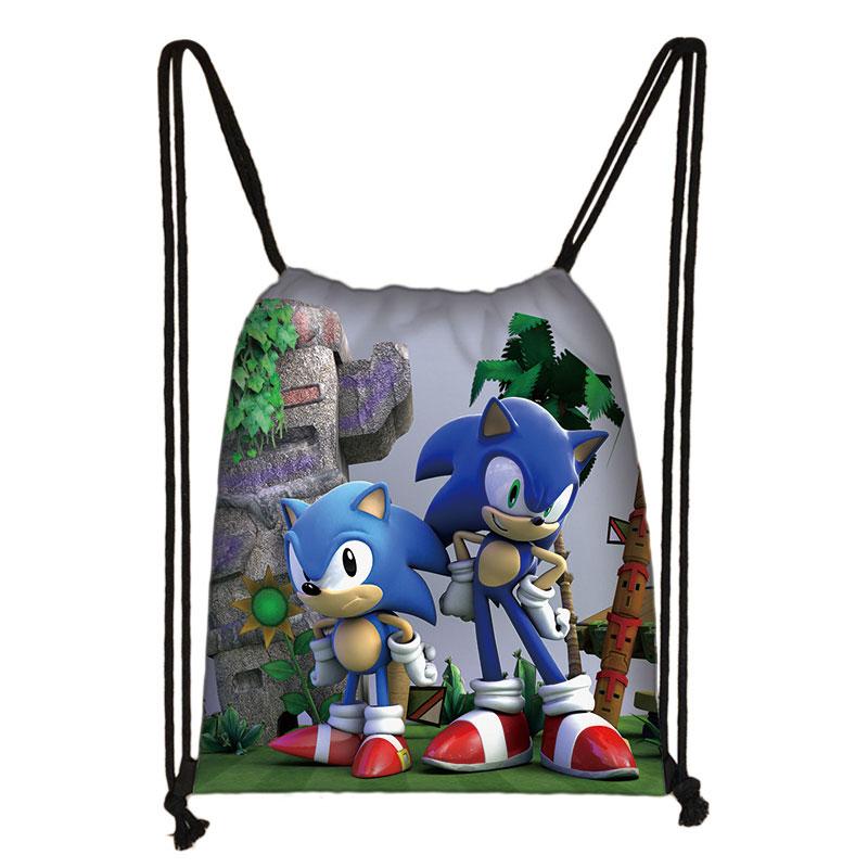 Mario Sonic Boom Hedgehogs 3D Drawstring Bag Printing Backpack Daily Casual Boys Girls Knapsack Drawstring Bags