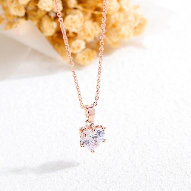 Ювелирные изделия розовое золото цветные ожерелья для женщин
