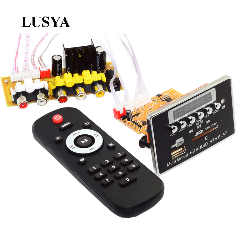 Lusya MP3/MP4/MP5 Bluetooth Audio Board Player DTS Lossless MTV HD Video Player Decode Board MP3 Decoder APE Player B8-003 цена