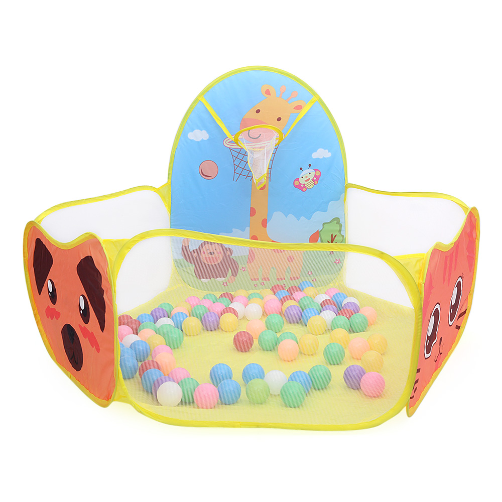 Playhouse Foldable Kid Ocean Ball Pit Pool Game Play Tent Ball Hoop In/Outdoor Play For Children Hut Pool Play House tents Gift