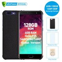 Ulefone T1 5.5 FHD Mobile Phone Android 7.0 Helio P25 Octa Core 6GB RAM 128GB ROM Fingerprint 4G Global Version Smartphone